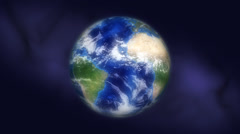 Rotating earth in empty space Stock Footage