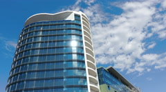 Office building and Clouds Stock Footage