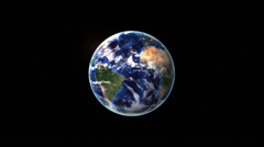 Zoom in to earth from space Stock Footage