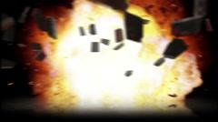 CG Hand Grenade Explosion Stock Footage