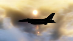 Fighter Planes Flying - CG Stock Footage