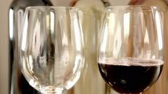 Pouring Wine Glasses Romantic Ambient. Stock Footage