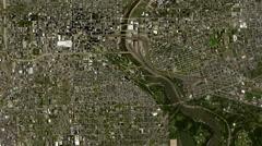 4K Earth Zoom: Philadelphia – USA Arkistovideo