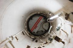 Escape hatch of a submarine Stock Photos