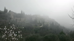 Gordes, general view with misty atmosphere, Provence Stock Footage