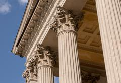 Ionian column capital architectural detail Stock Photos