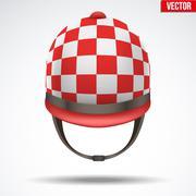 Classic Jockey helmet Stock Illustration