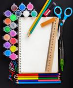 Set of school stationery Stock Photos