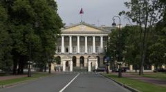 The Smolny Institute. Saint Petersburg Stock Footage