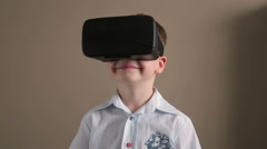 Child Wears a VR-Headset Stock Footage