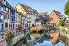 Colorful traditional french houses in Petite Venise Stock Photos