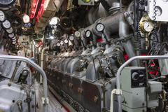 Engine room of submarine Kuvituskuvat