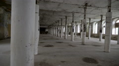 Inside look of the old buildings Stock Footage