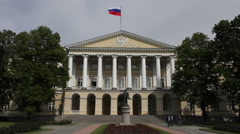 The Smolny Institute. Saint Petersburg Stock Footage