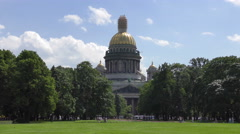 Saint Isaac's cathedral. Saint Petersburg Stock Footage