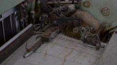 Old rusty and dusty part of the machine Stock Footage