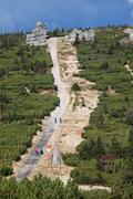Trail in Karkonosze Mountains Stock Photos