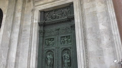 Decorated door St. Isaacs Cathedral Stock Footage
