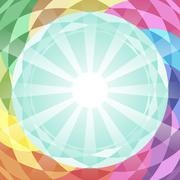 Abstract vector geometry background in different colors. Stock Illustration
