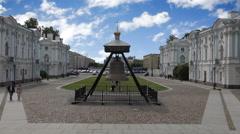 Rastrelli square. Saint Petersburg Stock Footage
