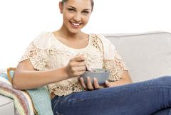 Eating healthy - stock photo