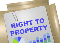 Right to Property concept Stock Illustration
