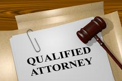 Qualified Attorney - legal concept Piirros