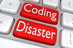 Coding Disaster concept Stock Illustration