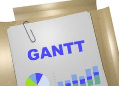 Gantt - project concept Stock Illustration