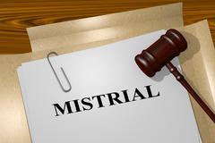 Mistrial - legal concept Stock Illustration