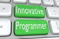 Innovative Programmer concept Stock Illustration