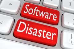 Software Disaster concept Piirros