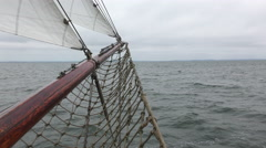 Tall ship at sea Stock Footage