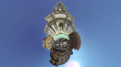 Fontana di Trevi, Rome, Italy. largest Baroque fountain in the city Stock Footage