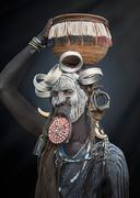 Woman of the Mursi Tribe, Omo Valley, Ethiopia Stock Photos