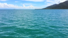 Sea landscape with the translation of a shot on islands,shot from the motor boat Stock Footage
