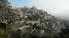 General view of Gordes, Provence, France Stock Footage