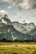 Alp Flix, Savognin, Graubuenden, Switzerland - stock photo