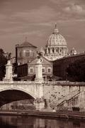 Rome River Tiber Stock Photos