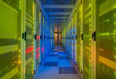 Datacenter for storing large amounts of data, and is an important hub for the - stock photo