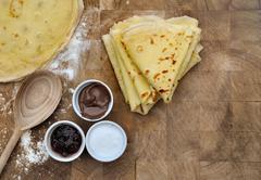Homemade french pancakes Stock Photos