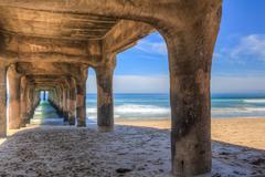 Manhattan Beach Pier, California, USA - stock photo