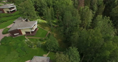Aerial view. Beautiful suburban townhouses. Private property Stock Footage