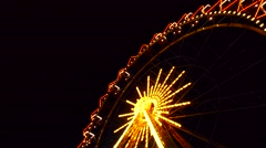 Time lapse of Ferris wheel in the night with lights Stock Footage