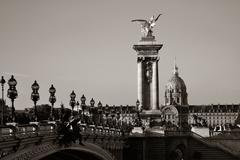Alexandre III bridge Stock Photos