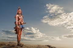 Himba woman with traditional headpiece, Namibia Stock Photos