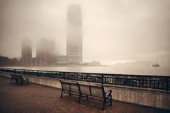 New York City fog Stock Photos