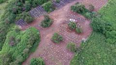 Bee yard aerial Hawaii 4k Stock Footage