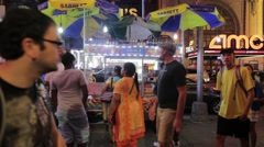 New York City Hot Dog Stand Stock Footage