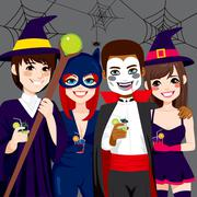 Halloween Adult Party Stock Illustration